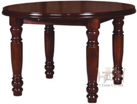Стол раздвижной круглый Ф1200 (1600) на четырех ножках