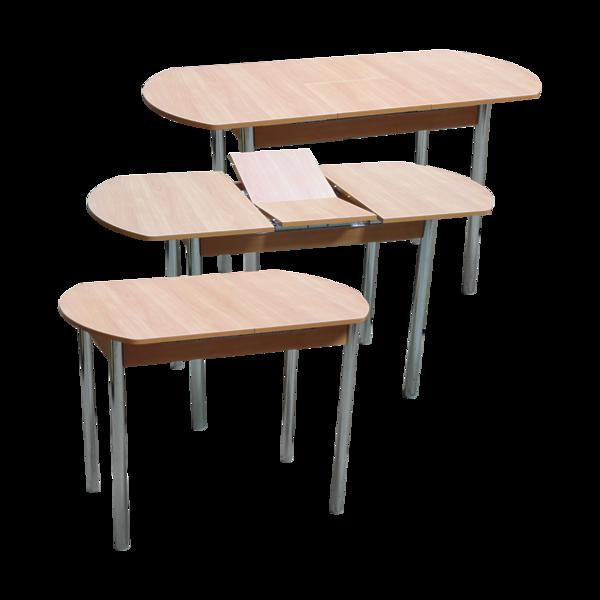 Стол раздвижной с    вкладышем ПГ 17